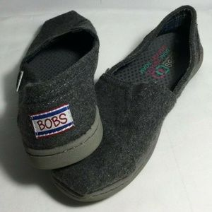 BOBS Skechers Slip On Shoes Gray Womens Size 5